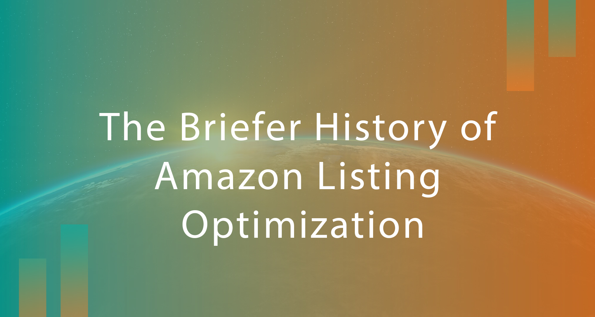 The Briefer History of Amazon Listing Optimisation