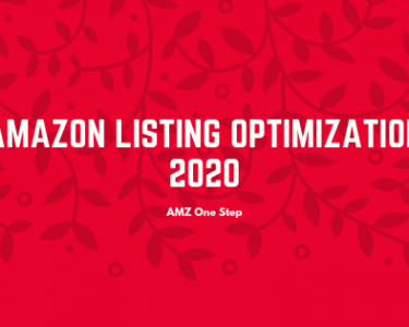 Amazon listing optimization 2020